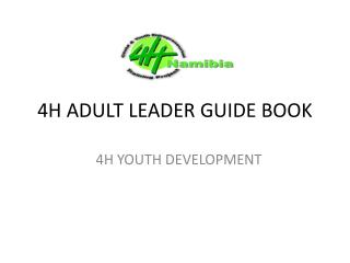 4H ADULT LEADER GUIDE BOOK