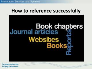 How to reference successfully