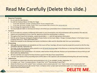 Read Me Carefully (Delete this slide.)