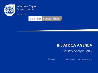 The Africa Agenda