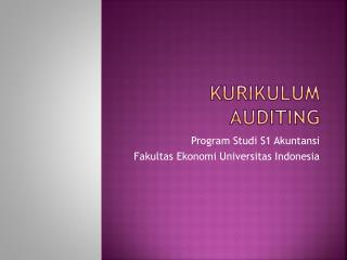 Kurikulum  Auditing