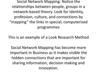 My colleague and I want to understand how Social Network Mapping can help with design and brand identity
