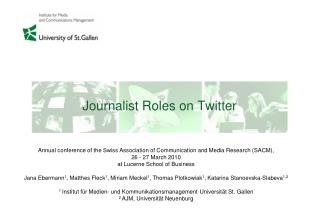 Journalist Roles on Twitter