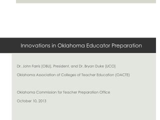 Innovations in Oklahoma Educator Preparation