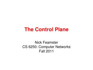The Control Plane