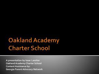 Oakland Academy  Charter School