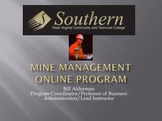 Mine management Online program
