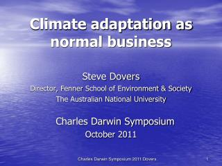 Climate adaptation as normal business