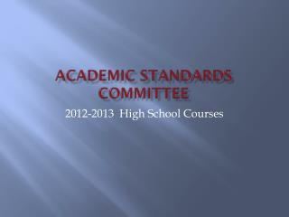 Academic Standards Committee