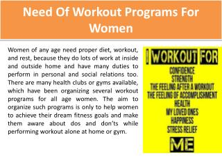Workout Programs For Women