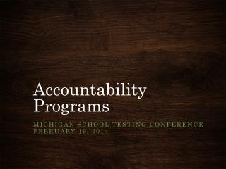 Accountability Programs