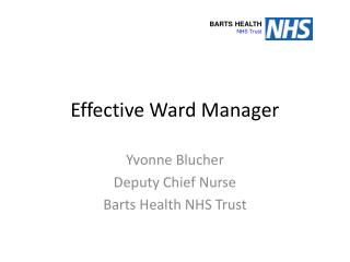Effective Ward Manager