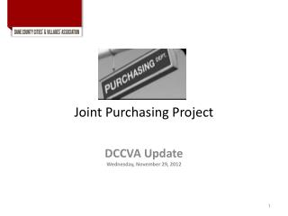 Joint Purchasing Project