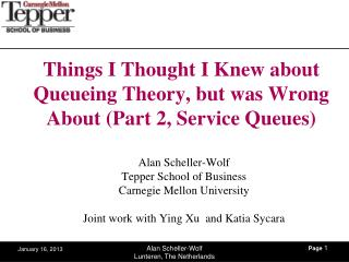 Things I Thought I Knew about Queueing Theory, but was Wrong About (Part 2, Service Queues )