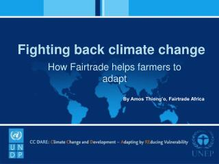 Fighting back climate change