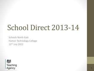 School Direct 2013-14