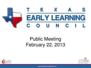 Public Meeting  February 22, 2013