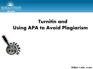 APA Part 1 – Test citations