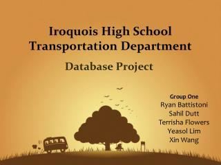 Iroquois High School Transportation Department