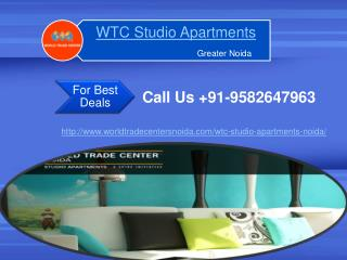 WTC Studio Apartments Noida| WTC Studio Apartments Noida