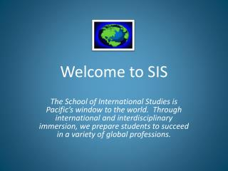 Welcome to SIS