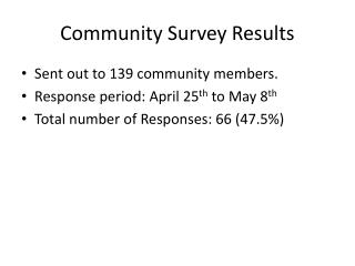Community Survey Results