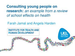 Consulting young  people  on research:  an example from a review of school effects on health