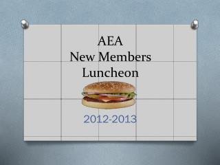 AEA New Members Luncheon