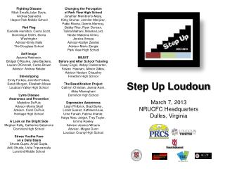 Step Up Loudoun March 7, 2013 NRUCFC Headquarters Dulles, Virginia