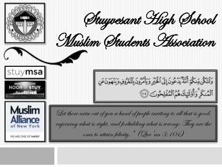Stuyvesant High School Muslim Students Association