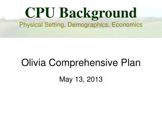 Olivia Comprehensive Plan