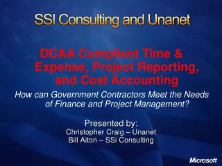 SSI Consulting and Unanet