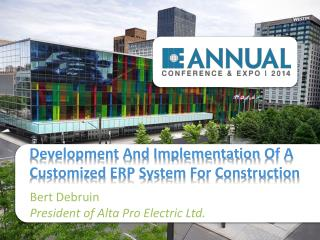 Development And Implementation  Of A Customized  ERP System For Construction