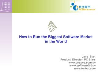 How to Run the Biggest  Software Market  in  the World
