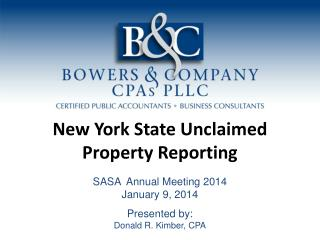 New York State Unclaimed Property Reporting
