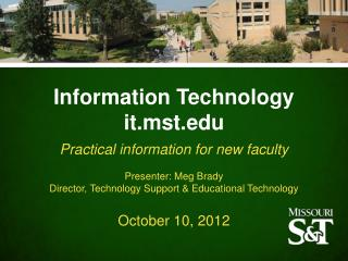 Information Technology it.mst.edu
