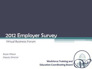 2012 Employer Survey
