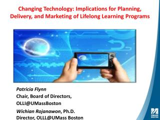 Changing Technology: Implications for Planning, Delivery, and Marketing of Lifelong Learning Programs