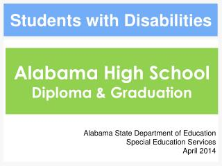 Alabama High School  Diploma & Graduation