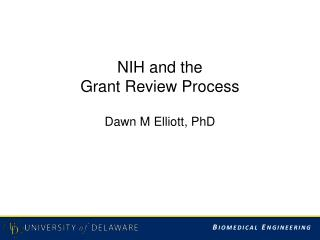 NIH  and  the  Grant Review Process