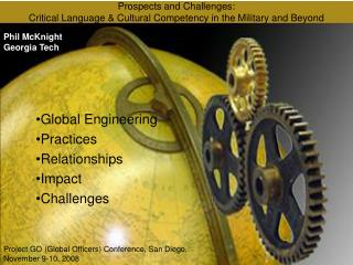 Prospects and Challenges: Critical Language  &  Cultural Competency in the Military and Beyond
