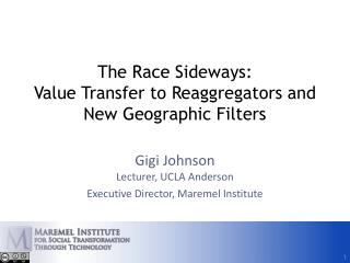 The Race Sideways: Value Transfer to  Reaggregators  and New Geographic Filters