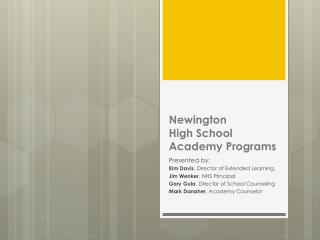 Newington  High School Academy Programs