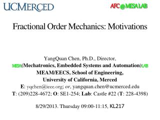 Fractional Order Mechanics: Motivations