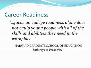 Career Readiness