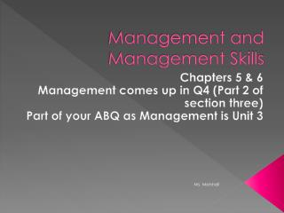 Management and Management Skills