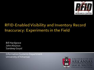 RFID-Enabled Visibility and Inventory Record Inaccuracy: Experiments in the Field