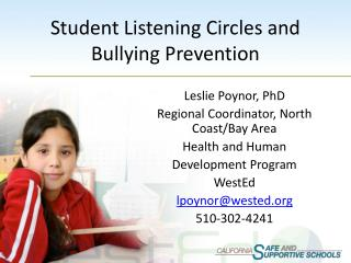 Student Listening Circles and Bullying Prevention