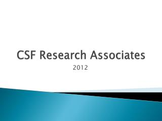 CSF Research Associates