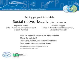 Putting people into models Social networks  and Bayesian networks